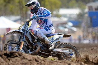 Kayne Lamont / MX2 overall round winner MXN Round 1 - Broadford / MX2 2014 Monster Energy MX Nationals Australian Motocross Championship Broadford Vic.  Sunday 30 March 2014 © Sport the library / Jeff Crow