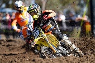 Ryan Marmont / Raceline Pirelli Suzuki  MXN Round 1 - Broadford / MX2 2014 Monster Energy MX Nationals Australian Motocross Championship Broadford Vic.  Sunday 30 March 2014 © Sport the library / Jeff Crow